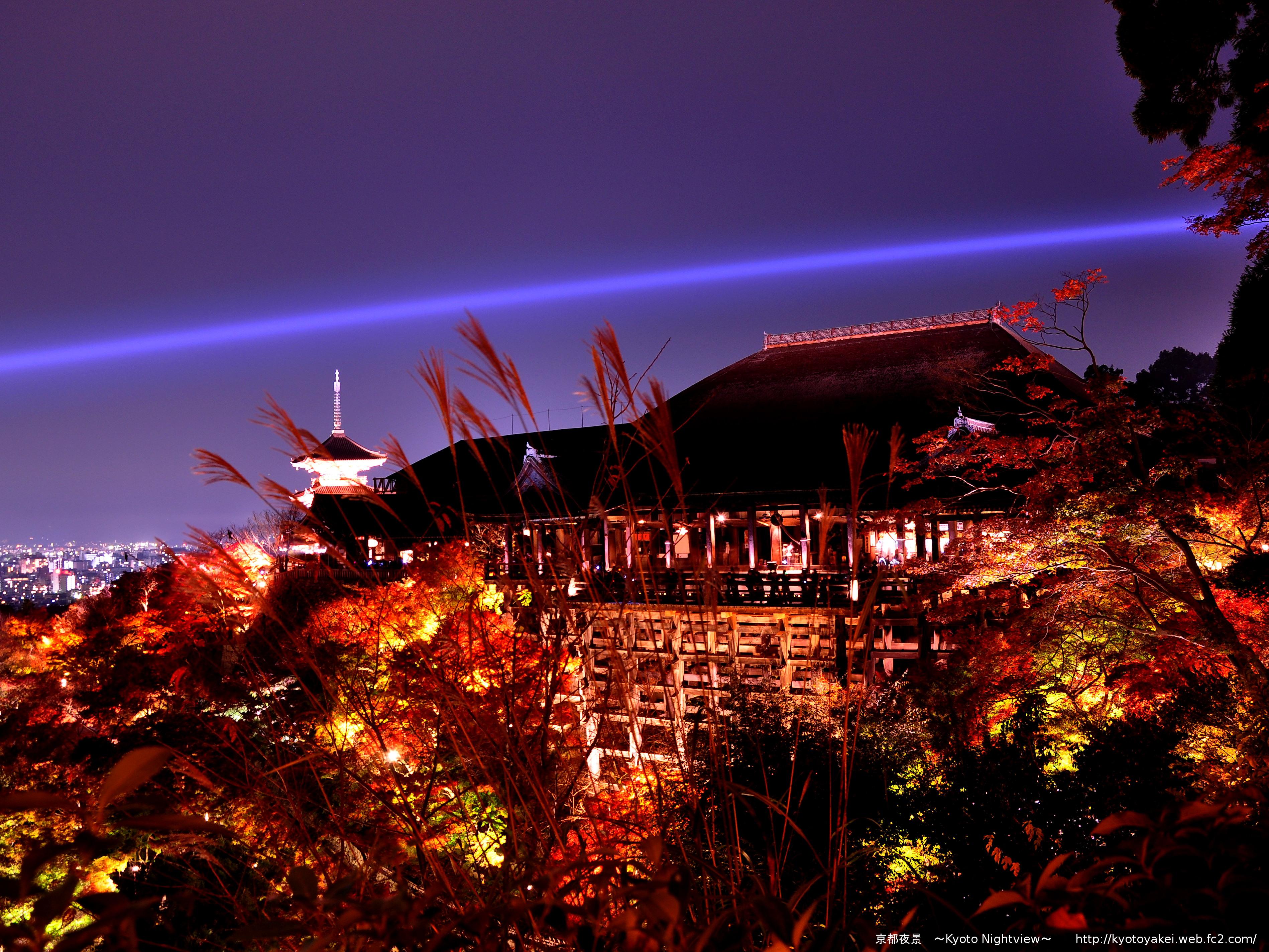清水寺の夜景
