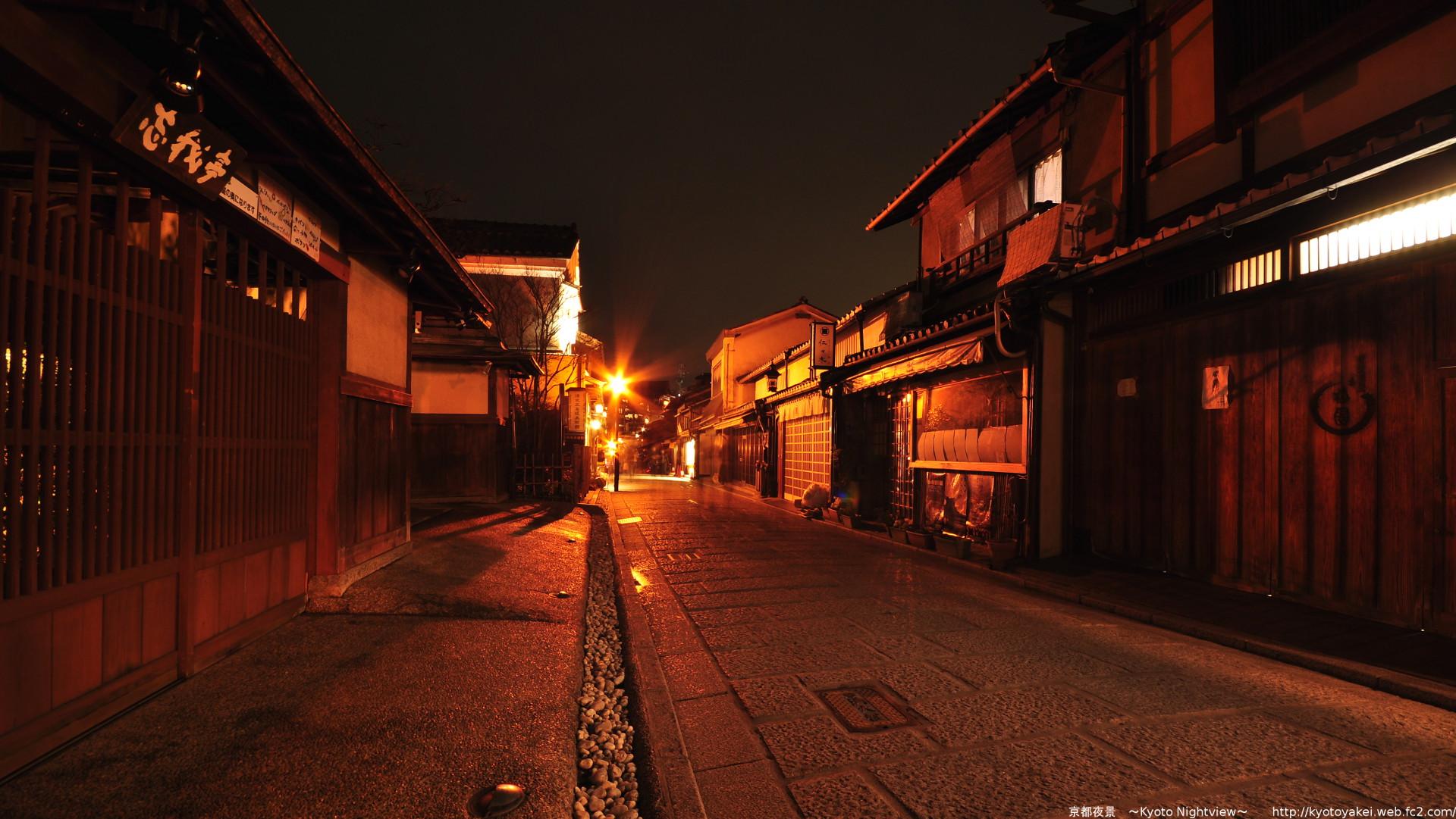 左京区 東山区の街並みの壁紙