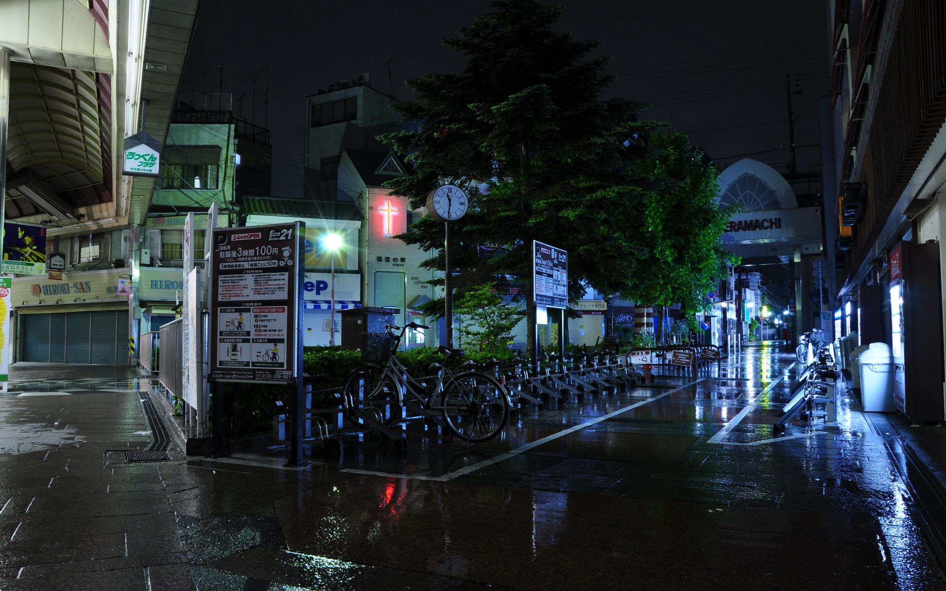 河原町 雨の日 の夜景壁紙集